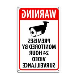 WARNING SIGNS 24 HOUR VIDEO SURVEILLANCE SECURITY SIGN - CCT