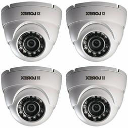 HD Weatherproof Night Vision Security Dome Camera 4 Pack