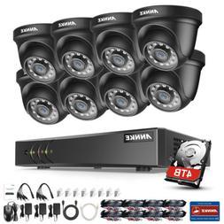 ANNKE Black Dome 3000TVL CCTV Outdoor Camera 4/8CH 1080P Lit