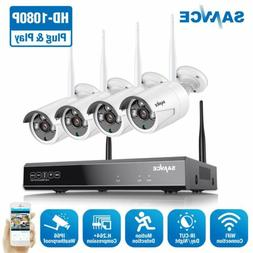 SANNCE Wireless 8CH NVR 1080P Video Security Camera System O