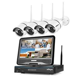 1080P Wifi Security Camera System with 10inch Monitor, SANNC