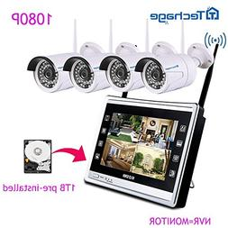 """Techage Wifi Security System with All-in-one Monitor 11""""/ Wi"""