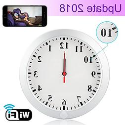 CAMXSW HD 1080P WiFi Spy Camera  Wall Desk Clock Hidden Came