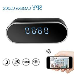 Newwings HD 1080P WiFi Hidden Camera Alarm Clock Wireless Sp