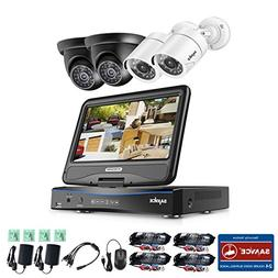"""SANNCE Wired Security Camera System 4CH with 10"""" Monitor Hom"""