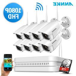 ANNKE Wireless 1080P 8CH NVR 2MP IR Night Vision CCTV Securi