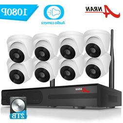 Wireless 1080P HD WIFI Security Camera System with One-way A