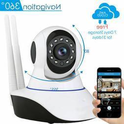 Wireless 1080P Pan/Tilt IP Security Camera Network CCTV Nigh