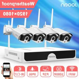 JOOAN Wireless 1080P P2P NVR 4x 1080P WIFI Security Camera S