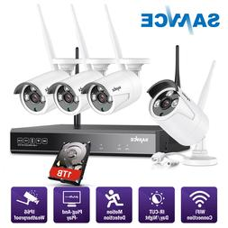 SANNCE Wireless 4CH 1080P NVR 4x CCTV In/ Outdoor Security C