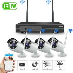 Xtech Wireless 4CH 1080P NVR Outdoor indoor WIFI Camera CCTV