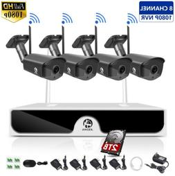 JOOAN Wireless 8CH 1080P NVR Home Outdoor Security Camera IP