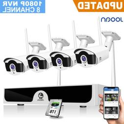 JOOAN Wireless 8CH 1080P NVR Outdoor 2MP Security IP Camera