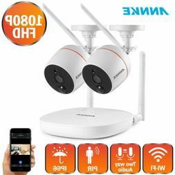 ANNKE Wireless HD 1080P Mini 4CH NVR 2MP WIFI Audio PIR Secu
