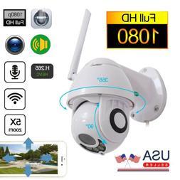 Wireless HD 1080P WiFi 5X ZOOM CCTV Outdoor IP Home Security