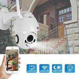 Wireless HD 1080P WiFi 5X ZOOM CCTV Outdoor IP Camera Home S