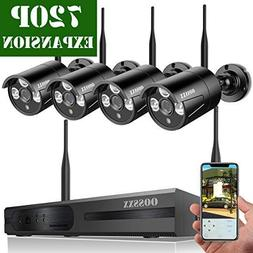 OOSSXX HD 1080P 8-Channel Wireless Security Camera System,4