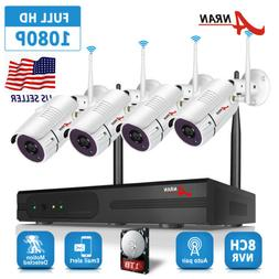 wireless security camera system 8ch 960p 1tb