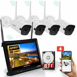 Wireless Security Camera System All-in-One 1080P 4 Channel 3