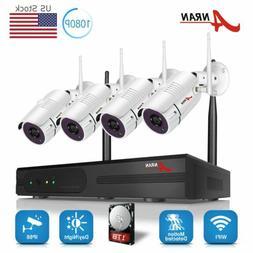ANRAN Wireless Security CCTV Camera System 8CH NVR 2.0MP HD