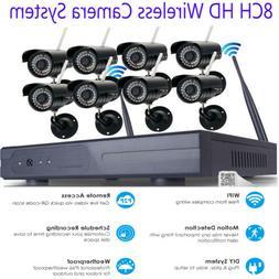 Wireless Security IP Camera System 4/8CH 1080p WIFI NVR Nigh