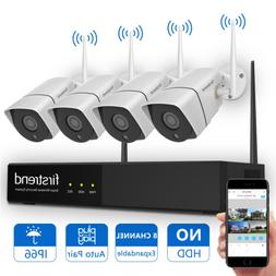 Wireless Security Camera System, Firstrend 8CH 1080P Wirele