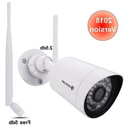 1080P Wireless Security Camera with Crystal Glass 3MP HD Len
