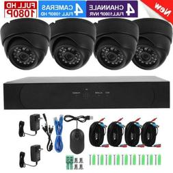 Wireless Smart Security Camera System 1080P 2MP AHD 4-Channe