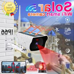 Solar IP Security Camera Wireless Surveillance Wifi Camera O