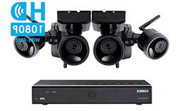 Lorex Wire Free Camera System, 6 Channel DVR, 4 Rechargeable