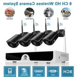 JOOAN Wireless WIFI 1080P Security Camera HDMI 8CH NVR Outdo
