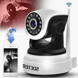 Wireless WIFI CCTV IP Camera Night Vision Pan Tilt 720P Secu