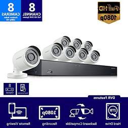 Samsung Wisenet SDH-B74081BN 8 Channel 1080P Full HD DVR Vid