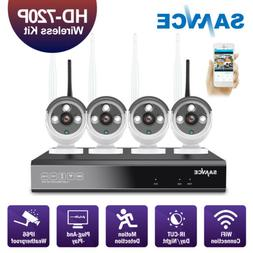 ANNKE WLAN 4CH 1080P NVR 1.0MP HD Video CCTV Wireless IP Sec