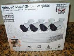 Night Owl WMBF-441-1080 Security Camera System 4 x 1080p Cam