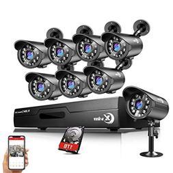 XVIM 8CH Home Security Camera System HDMI CCTV DVR Recorder