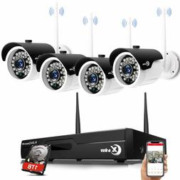 XVIM Security Cameras System 4 720P Wireless 1TB 4CH 1080P H