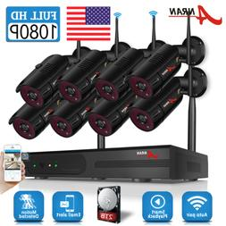 zoohi security camera system waterproof home wired