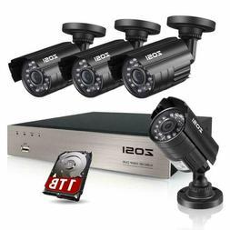Zosi 8Ch Security Camera System Hd-Tvi Full 1080P Video Dvr