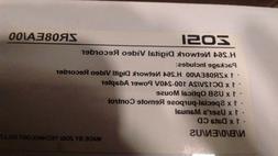 ZOSI ZR08EA/00 8CH H.264 DVR & ZM4317A 4 PK DOME CAMERAS & 1